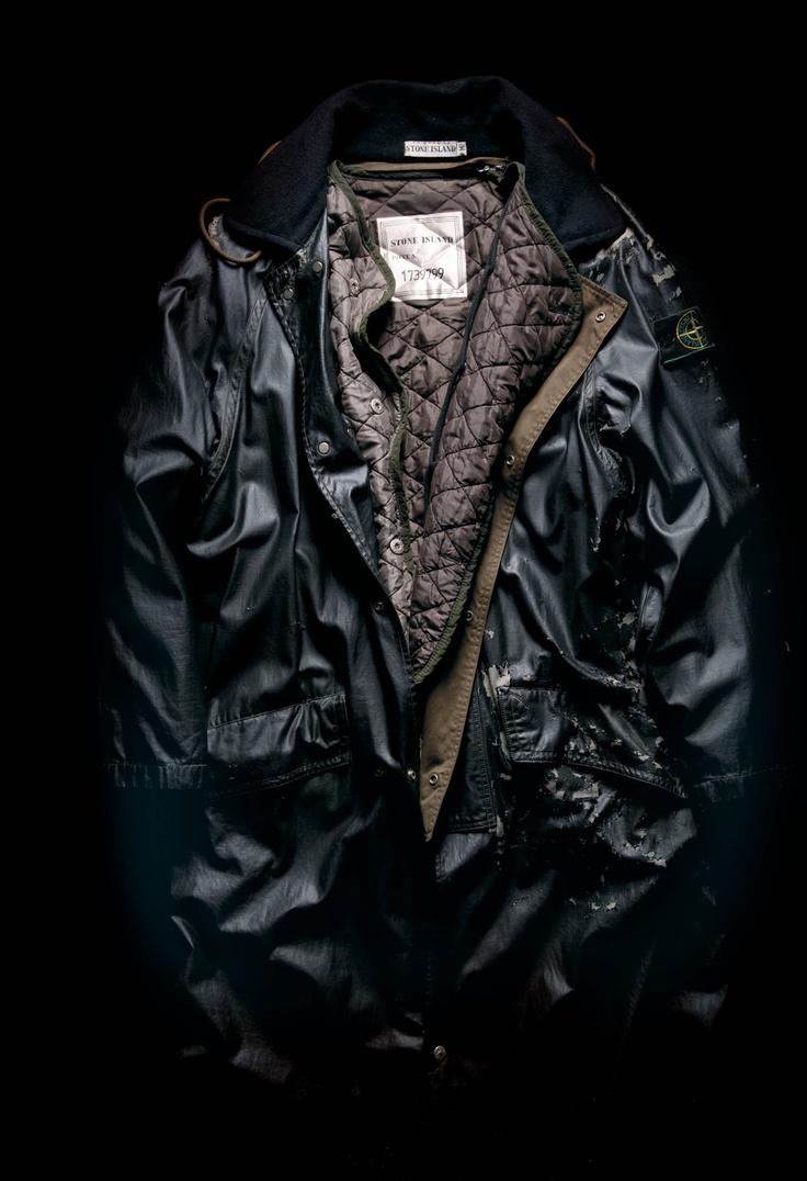 "Raso Gommato Covermat raincoat, Stone Island 1994/95. From the book ""Ideas from Massimo Osti"""