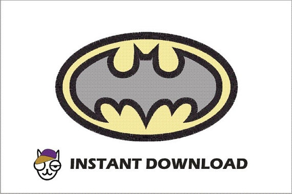 Batman  Applique Machine Embroidery Design in 4 by thecatshats, $4.00