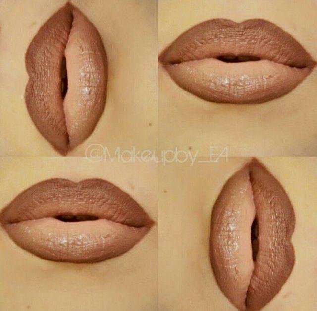 Instagram. Makeup. Lipstick. Lip liner. MAC Chestnut/Oak lip liner, Blankety/Myth lipsticks