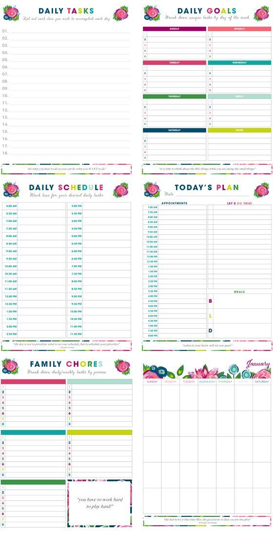 Best 25+ Time management printable ideas on Pinterest ...