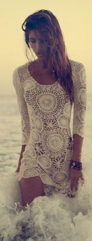 Ivory Crochet Dress Beach Style by Stellawantstodie