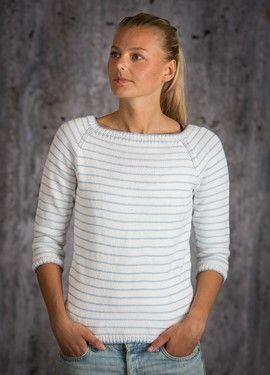 strikkeopskrift sweater med raglanærmer