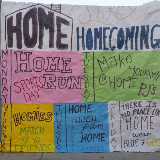 "AGHS celebrates ""There's No Place Like Homecoming"" with HOME inspired dress up days."