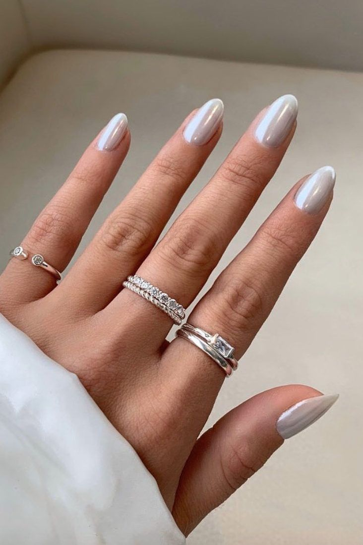 The Coolest Nail Ideas To Try This Spring In 2020 Classy Nail Designs Silver Nails Classy Nails