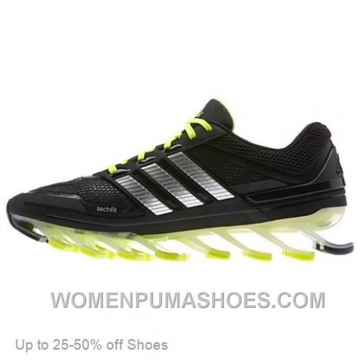 brand new 841c3 60fbc ... Buy Adidas Men Springblade Black Green Running Shoes Authentic CBQZtz  from Reliable Adidas Men Springblade Black . ...