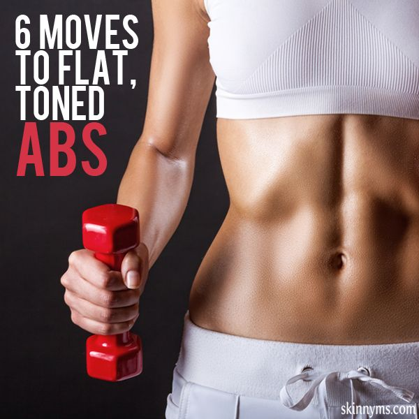 6 Moves to Flat, Toned Abs #abs #flatbelly #toned #skinnyms