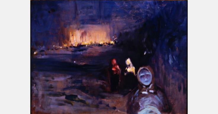 Władysław Podkowiński, Sobótki - study, 1893/94, oil on canvas,