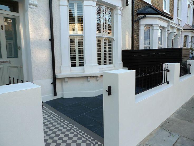 victorian front garden design london render plaster block