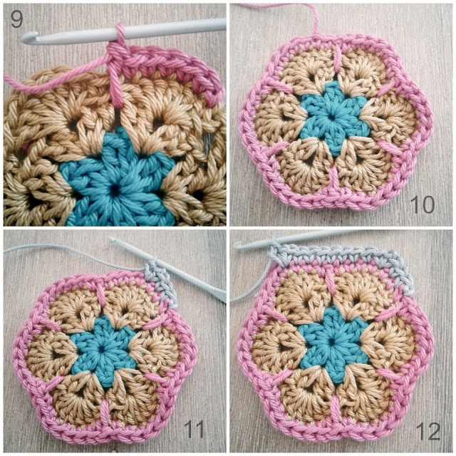 Crochet Granny Square African Flower Pattern : Tutorial African Flower Crochet it Pinterest