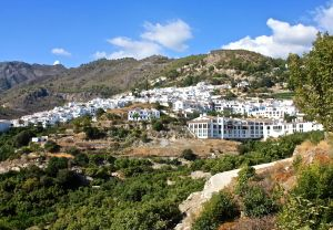 White washed village in the mountains behind Nerja
