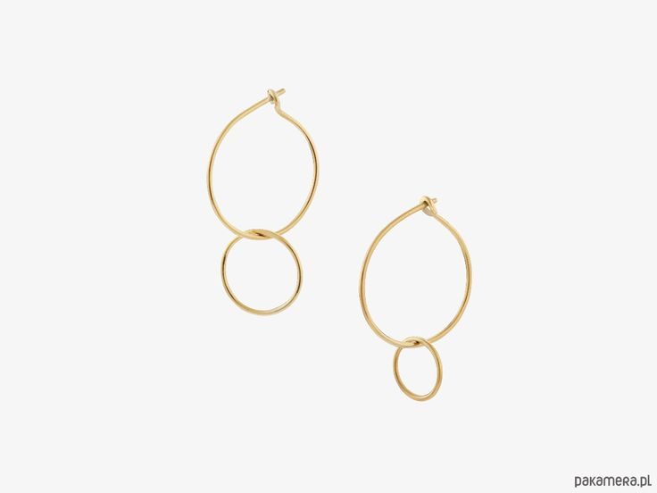 kolczyki - inne-Kolczyki złocone saburi z kolekcji insomnium