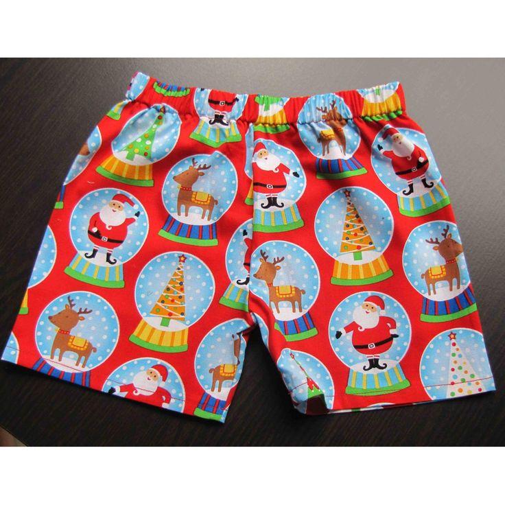 $11.20 Boys Shorts Size 1 Christmas order now by Mindy on Handmade Australia
