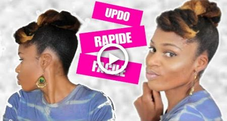 COIFFURE RAPIDE CHEVEUX CRPUS  UPDO NATURAL HAIR 4C MILIES HAIRSTYLE