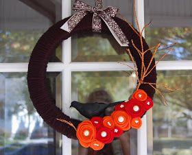 Paper Wings: Halloween Yarn Wreath