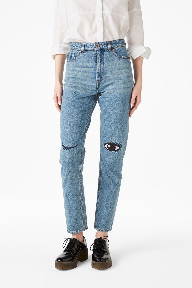 Kimomo eyes - Light blue - Jeans - Monki FR