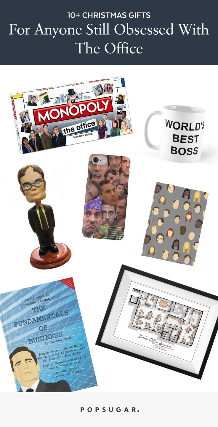 Popsugar Christmas Gift and present guide for fans of The Office (US) including Michael Scott, Jim Halpert and Dwight Shrute