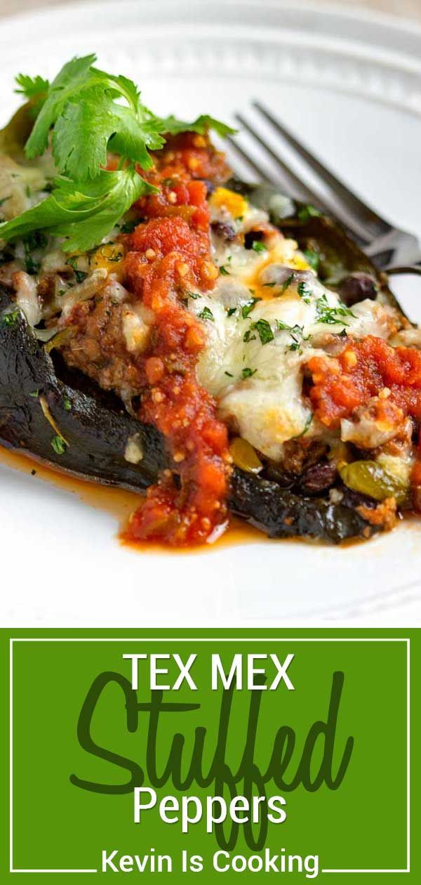 These Tex Mex Stuffed Peppers Are Filled With Ground Beef Black Beans Corn And Pepper Jack Cheese Smother Wit Stuffed Peppers Recipes Bbc Good Food Recipes