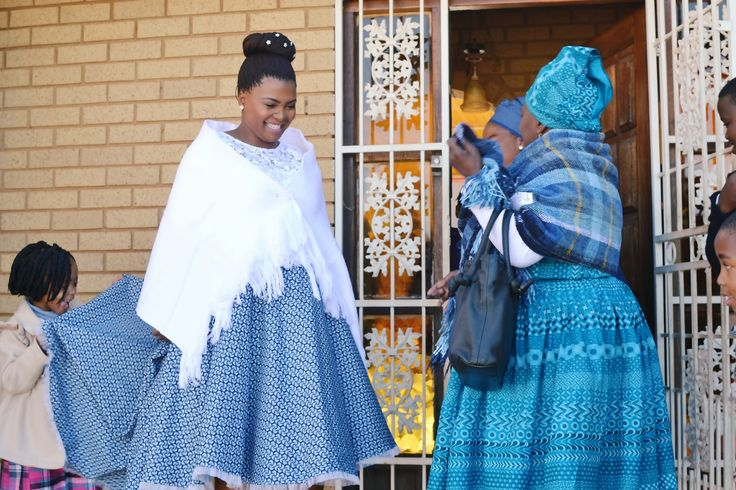 Modern South African Tswana bride