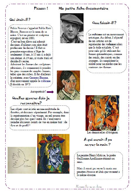 nurvero lecture documentaire picasso