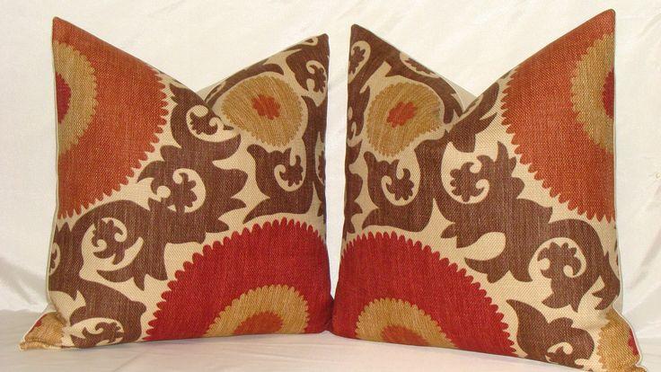 Fahri Clove Designer Suzani Print Decorative Pillow Cover 20