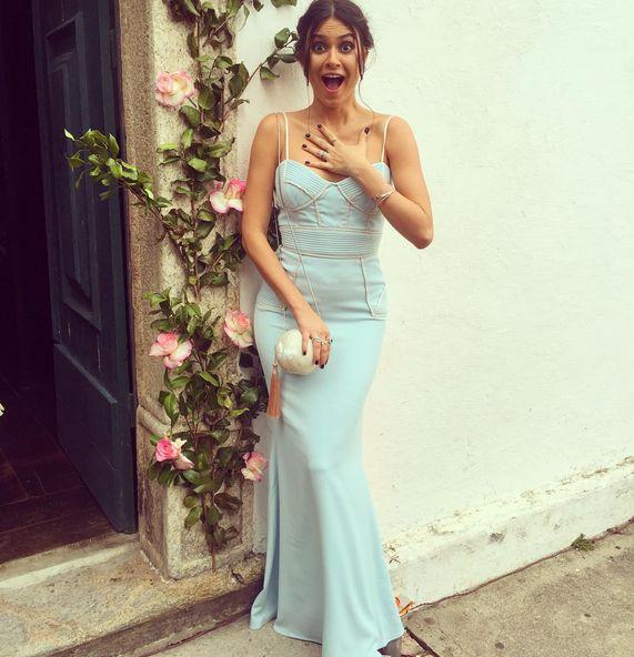 Vestido azul candy de Thaila Ayala (madrinha em casamento durante o dia)/ blue dress for wedding during the day