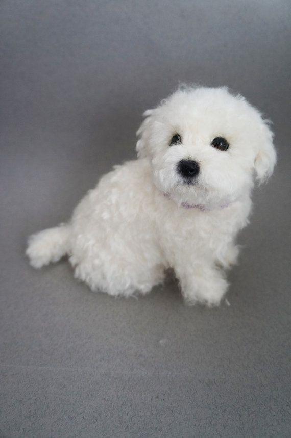 Vida tamaño aguja de fieltro perrito Perro por JanetsNeedleFelting