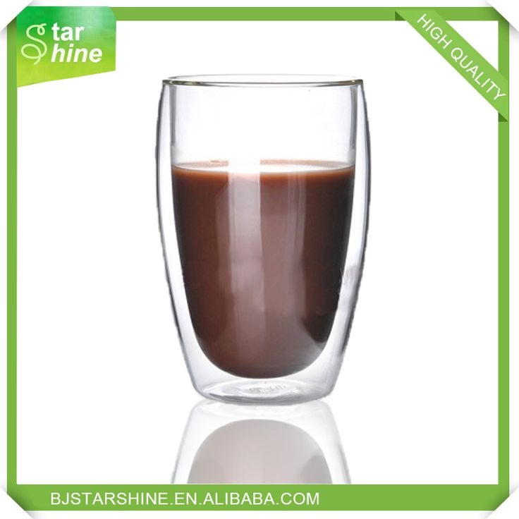Hot sell chinese factory stocked double wall glass coffee cups