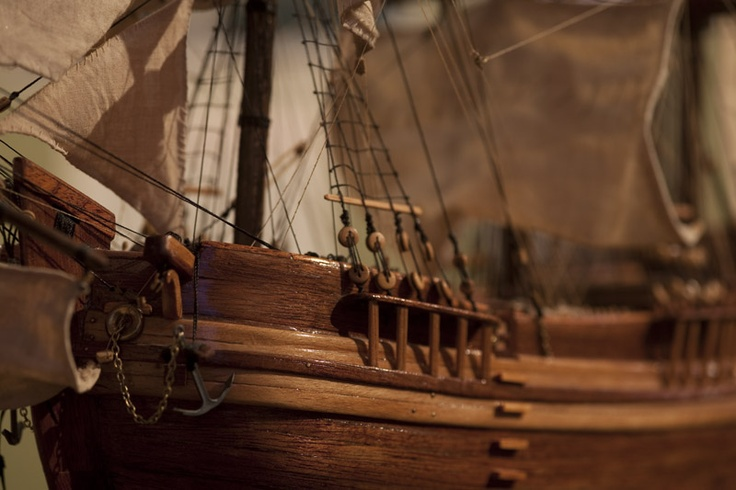Model of The Hector which took emigrees from Loch Broom to Pictou, Canada