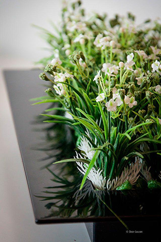 травка с цветами Зеленая.