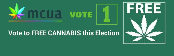 Vote 1 Drug Law Reform - Free Cannabis