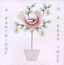 partridge in a pear tree... $$$ ... also offers the 12 Days of Christmas with words