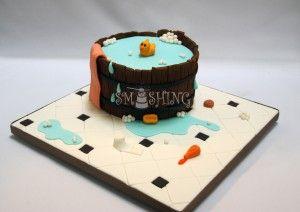 Baby tub cake