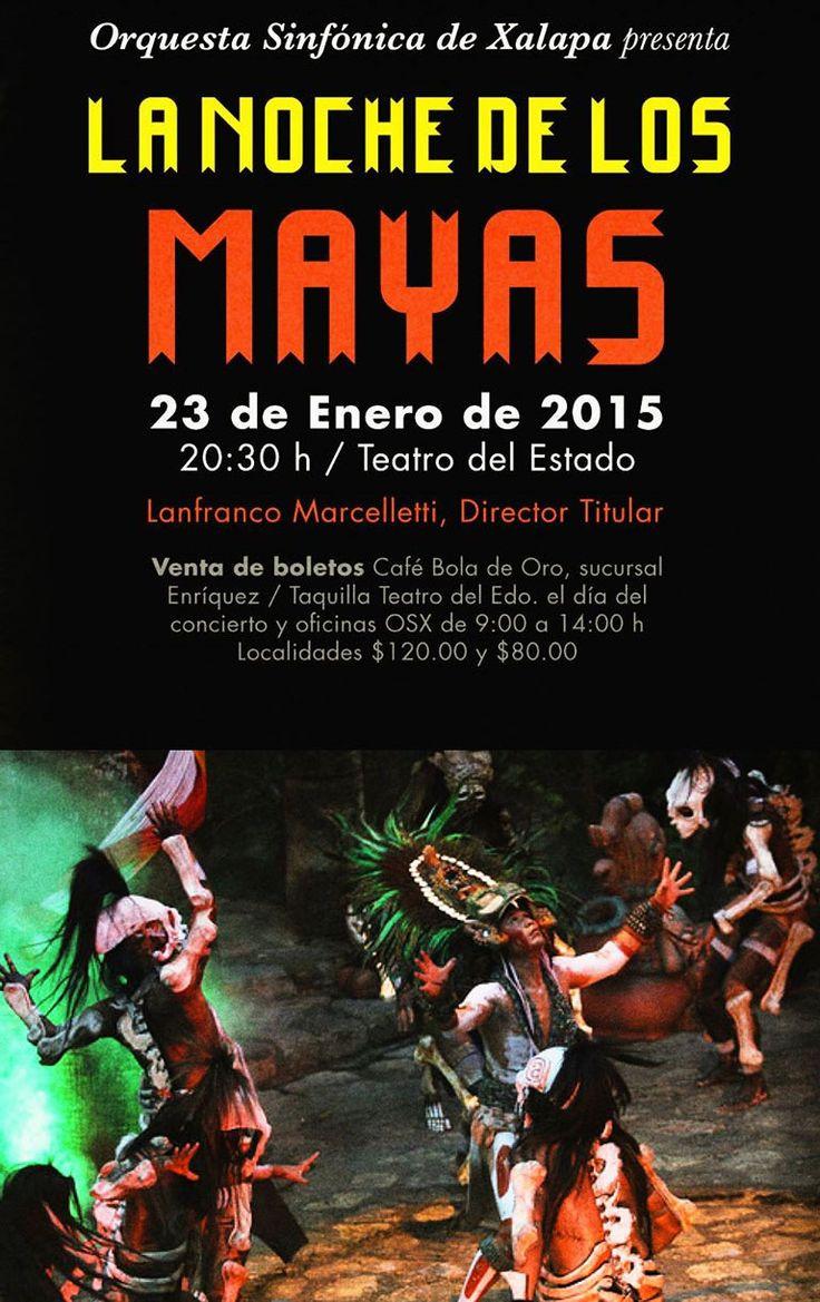 Concierto de la Orquesta Sinfónica de Xalapa en el Teatro del Estado. 23 de enero de 2015 en Xalapa, Veracruz.