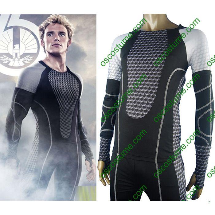 The Hunger Games cosplay costume halloween costume Hunger Games uniform for Katniss Everdeen Peeta Mellark Gale Hawthorne Haymitch Abernathy Finnick