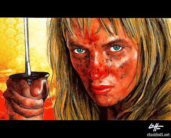 Print 8x10 The Bride Beatrix Kiddo Kill Bill Uma by chuckhodi