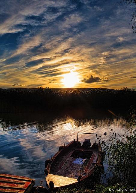 Amazing #Sunset at #Ioannina #Greece http://anesisrooms.gr/?lang=en