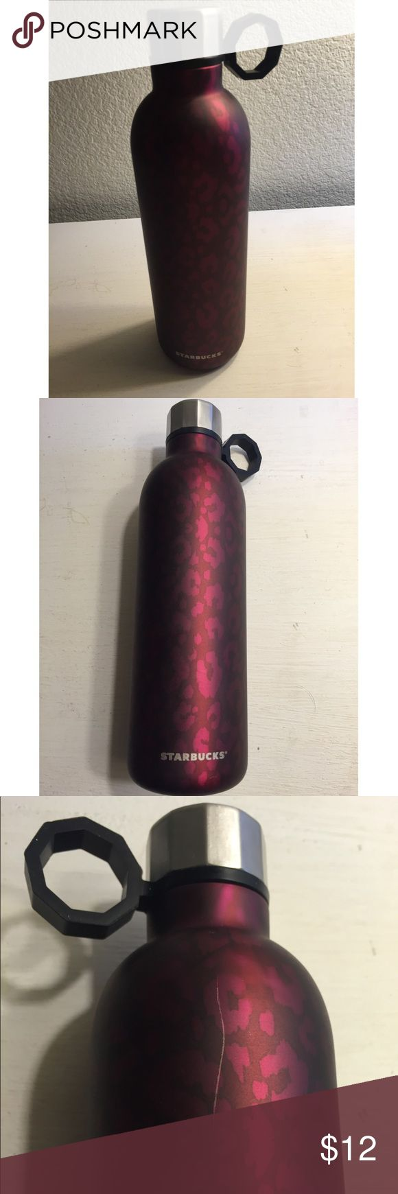 Starbucks Water Bottle Starbucks Water Bottle. Pink print. Brand new, never used. It does have one scratch which is pictured. New with Tags. Starbucks Other