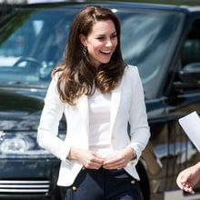Duchess Kate Stuns in Chic Nautical Trousers