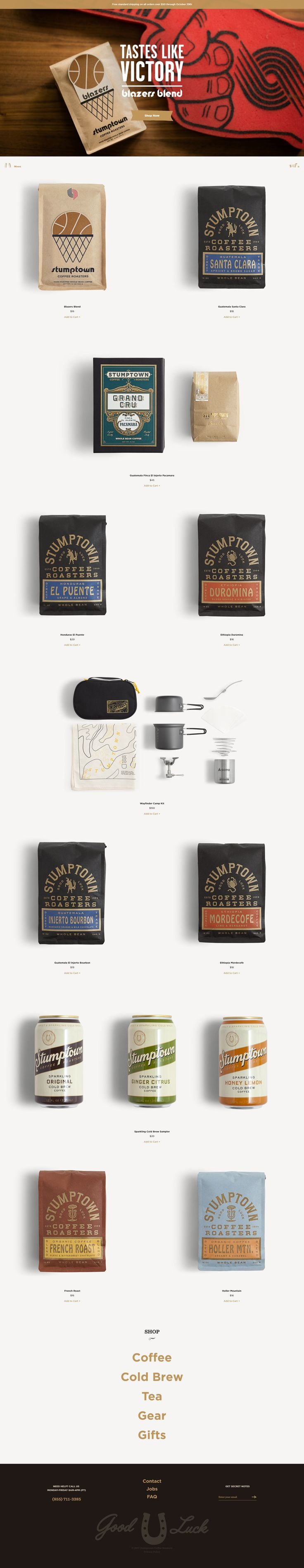 Stumptown Coffee #design #webdesign #inspiration