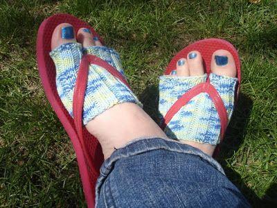 ant knit: flip-flop socks