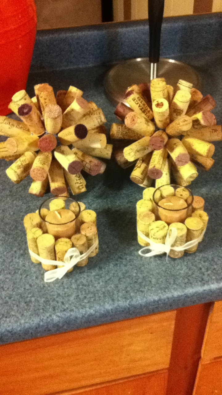 66 best images about wine and cheese bridal shower on for Decorating with wine corks