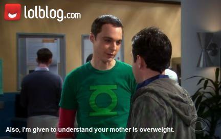 """Sheldon Pulls A """"Yo Momma"""" Joke"""
