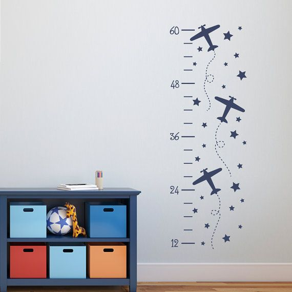 Hey, I found this really awesome Etsy listing at https://www.etsy.com/listing/456623300/airplane-growth-chart-decal-plane-decor