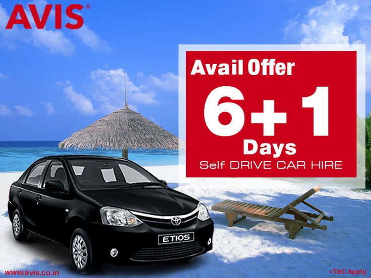 Self-drive is a beautiful and economical option. This is best option for busy and scheduled-packed individuals as well as families planning for long tours. AVIS India offers cars rental service on self-drive mode. Hire a car today in 6 top Indian cities and avail discount of 1 day if you book self-drive car for 7 days. For more information on Avis India self-drive car rental offer