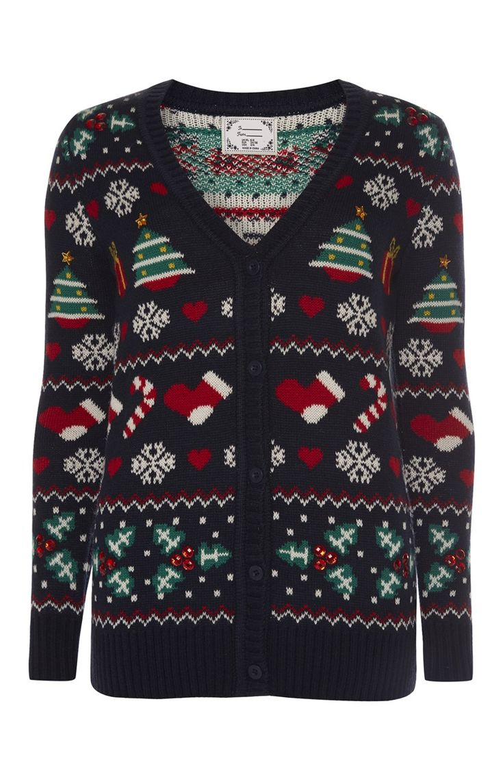 Primark - Navy Knitted Christmas Cardigan £14.00 (Me)