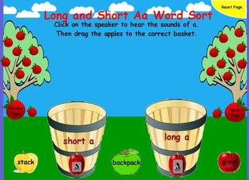 This flipchart allows the students to practice sorting words with the long and short a sounds.  The students can use the interactive flipchart to r...: Literacy, Shorts Vowel, Kids Smart, Flipchart Allow, Long Vowel, Language Art, Shorts A, Education Teaching, Interactive Flipchart