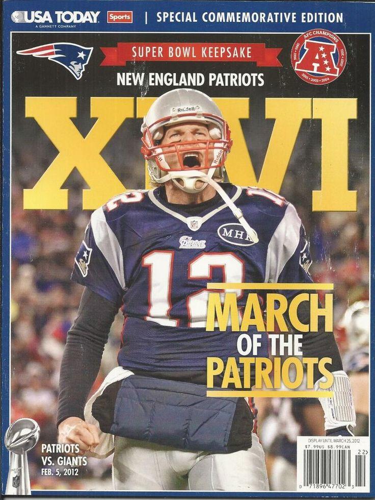 New England Patriots magazine Football Super Bowl keepsake Tom Brady NFL Players
