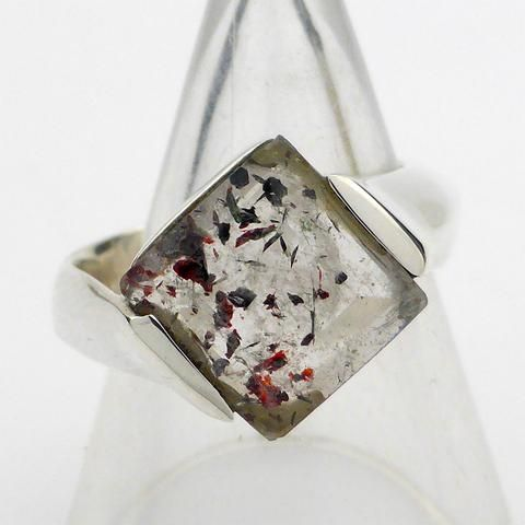 Faceted Super Seven ring | 925 Sterling Silver | 7 different minerals living in harmony together encourages Chakra Harmony in you | Crystal Heart Melbourne Australia since 1986