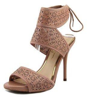 Jessica Simpson Barcia Women Us 7.5 Pink Peep Toe Heels.