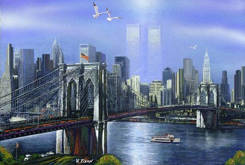 Ghost Twin Towers New York City Framed Art Print On Canvas by NewYorkArtPrints on Etsy https://www.etsy.com/listing/89191832/ghost-twin-towers-new-york-city-framed